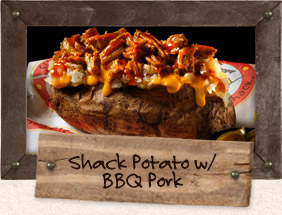 potato with barbecue pork