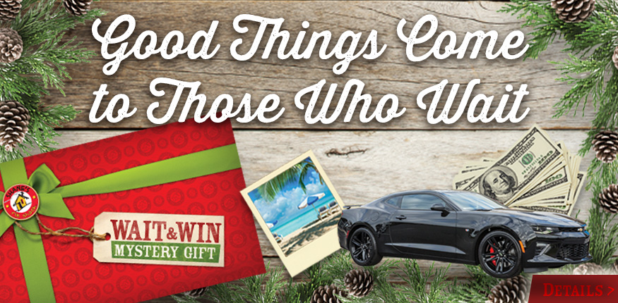 Good Things Come To Those Who Wait! You could win a 2017 Camaro SS1, $25,000 CASH, a $10,000 Dream Trip, & 5 Large Big Green Egg Grills plus MUCH MORE! More details at www.shanesribshack.com